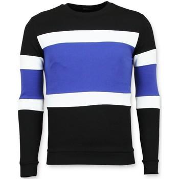 Kleidung Herren Pullover Enos Gestreifter Pullis Für F Schwarz, Blau