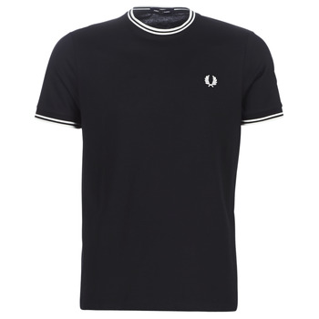 Kleidung Herren T-Shirts Fred Perry TWIN TIPPED T-SHIRT Schwarz