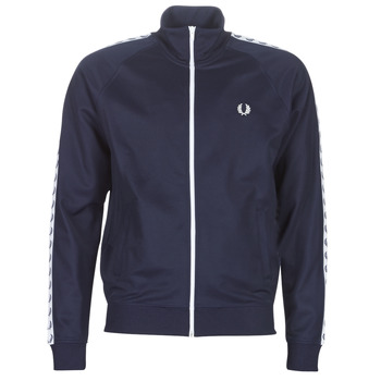 Kleidung Herren Trainingsjacken Fred Perry TAPED TRACK JACKET Marine