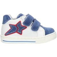Schuhe Mädchen Sneaker High Balocchi 493265 Blau und weiß