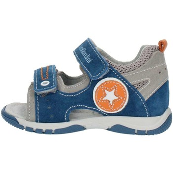 Schuhe Jungen Sandalen / Sandaletten Nero Giardini P823141M Grau und orange blau