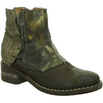 Schuhe Damen Boots Charme Stiefeletten 840 - combi B-16 grau