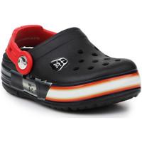 Schuhe Jungen Pantoletten / Clogs Crocs Crocslights Star Wars Vader 16160-0X9-116 schwarz, rot