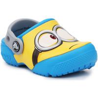 Schuhe Kinder Pantoletten / Clogs Crocs Crocsfunlab Minions Clog 204113-456 gelb, blau