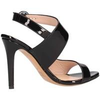 Schuhe Damen Sandalen / Sandaletten Albano 2067 Sandelholz Frau schwarz schwarz