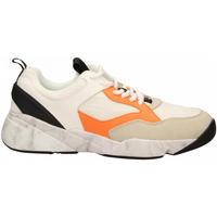 Schuhe Herren Sneaker Low Cromier TECNOnylon white-orange