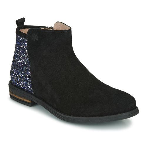 Schuhe Mädchen Boots Acebo's 8035-NEGRO Schwarz
