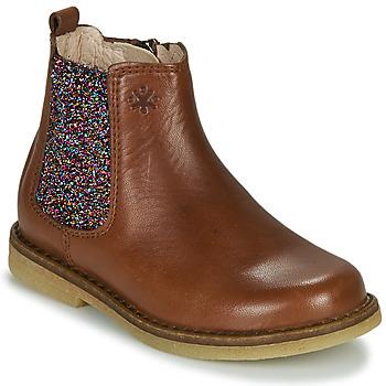 Schuhe Mädchen Boots Acebo's 5274-CUERO-J Cognac