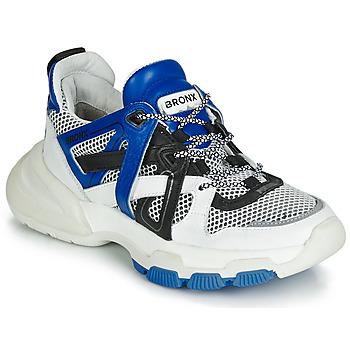 Schuhe Damen Sneaker Low Bronx SEVENTY STREET Weiss / Schwarz / Blau