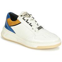 Schuhe Damen Sneaker Low Bronx OLD COSMO Weiss / Ocker / Blau