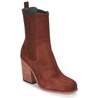Schuhe Damen Low Boots Fru.it CHELIN Rot