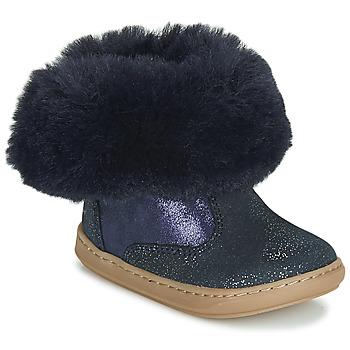 Schuhe Mädchen Boots Shoo Pom BOUBA FUR BOOTS Marine