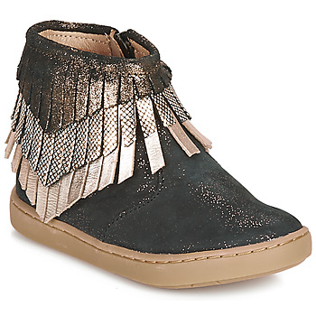 Schuhe Mädchen Boots Shoo Pom PLAY HURON Schwarz / Silbern