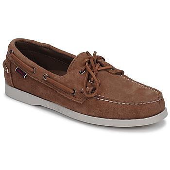 Schuhe Herren Bootsschuhe Sebago DOCKSIDES PORTLAND SUEDE Camel
