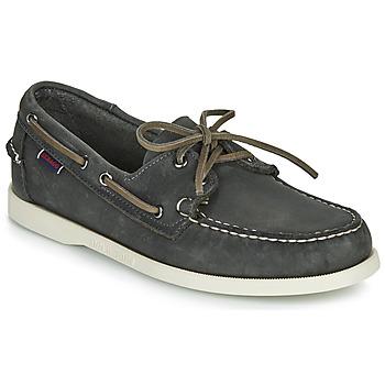 Schuhe Herren Bootsschuhe Sebago DOCKSIDES PORTLAND CRAZY H Grau