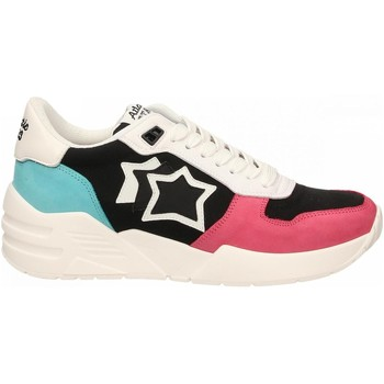 Schuhe Damen Sneaker Low Atlantic Stars VENUS rosso-nero-verde-acq