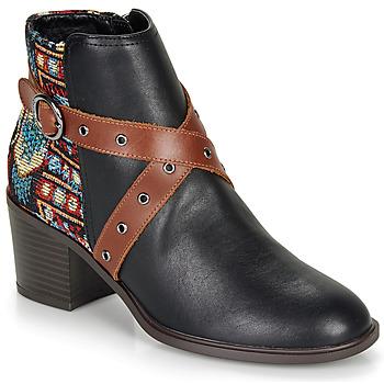 Schuhe Damen Low Boots Desigual ALASKA TAPESTRY Schwarz