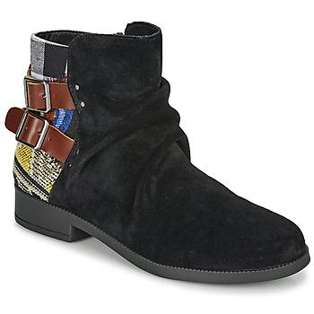 Schuhe Damen Boots Desigual OTTAWA PATCH Schwarz