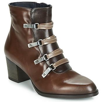 Schuhe Damen Low Boots Dorking ZUMA Camel