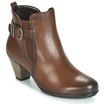 Schuhe Damen Low Boots Gabor 3564122 Braun