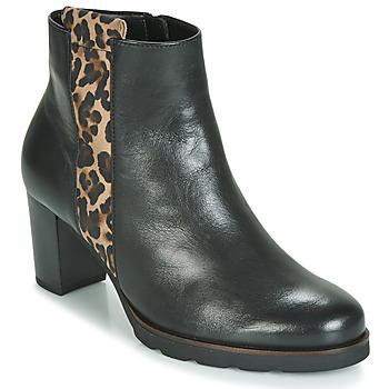 Schuhe Damen Low Boots Gabor 3554122 Schwarz / Leopard