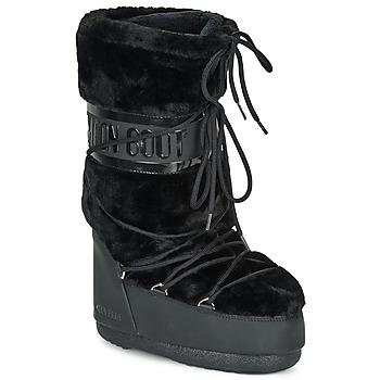 Schuhe Damen Schneestiefel Moon Boot MOON BOOT CLASSIC FAUX FUR Schwarz