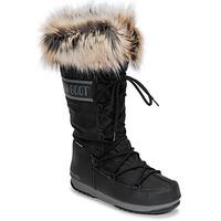 Schuhe Damen Schneestiefel Moon Boot MOON BOOT MONACO WP 2 Schwarz