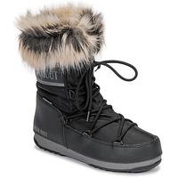 Schuhe Damen Schneestiefel Moon Boot MOON BOOT MONACO LOW WP 2 Schwarz