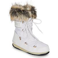 Schuhe Damen Schneestiefel Moon Boot MOON BOOT MONACO LOW WP 2 Weiss
