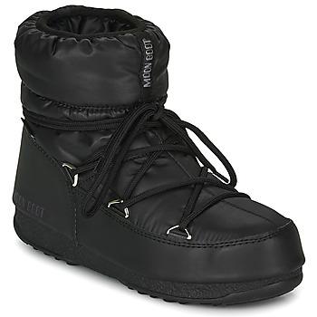 Schuhe Damen Schneestiefel Moon Boot MOON BOOT LOW NYLON WP 2 Schwarz