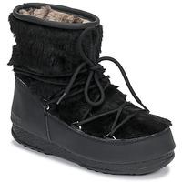 Schuhe Damen Schneestiefel Moon Boot MOON BOOT MONACO LOW FUR WP Schwarz