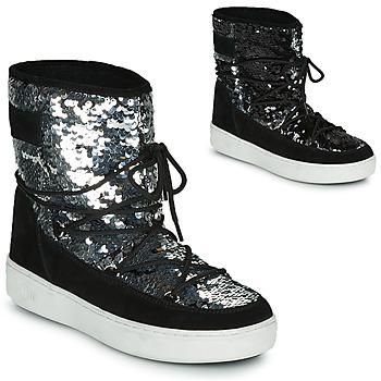 Schuhe Damen Schneestiefel Moon Boot MOON BOOT PULSE MID DISCO Schwarz