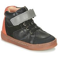 Schuhe Jungen Sneaker High Babybotte KEN Schwarz / Orange