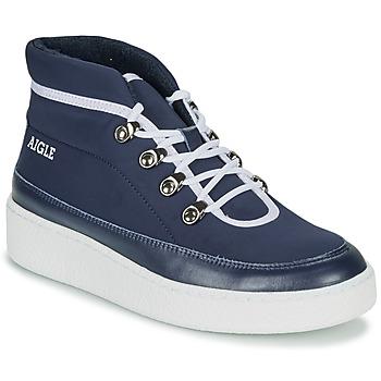 Schuhe Damen Boots Aigle SKILON MID Marine