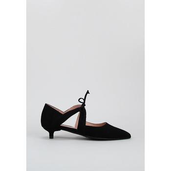 Schuhe Leinen-Pantoletten mit gefloch Krack Harmony DORA Schwarz