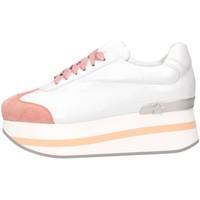 Schuhe Damen Sneaker Low Mg Magica D19181 BIANCO/ROSA Sneaker Frau Weiß / Pink Weiß / Pink