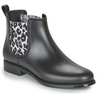 Schuhe Damen Gummistiefel Be Only DAKAR Schwarz / Leopard