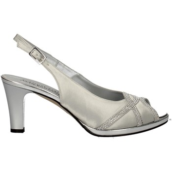 Schuhe Damen Sandalen / Sandaletten Soffice Sogno E9385 SILVER
