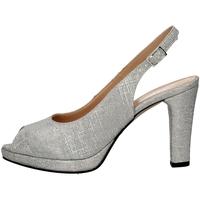 Schuhe Damen Sandalen / Sandaletten Soffice Sogno E9474 SILVER