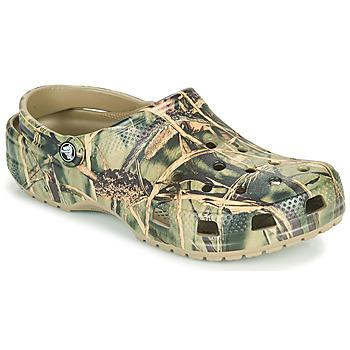 Schuhe Herren Pantoletten / Clogs Crocs CLASSIC REALTREE Kaki