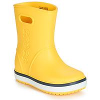 Schuhe Kinder Gummistiefel Crocs CROCBAND RAIN BOOT K Gelb / Marine
