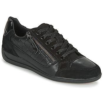 Schuhe Damen Sneaker Low Geox D MYRIA A Schwarz
