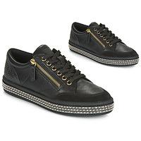 Schuhe Damen Sneaker Low Geox D LEELU' Schwarz