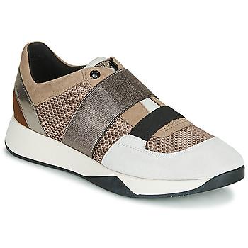 Schuhe Damen Sneaker Low Geox D SUZZIE Maulwurf / Silbern