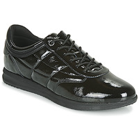 Schuhe Damen Sneaker Low Geox D AVERY Schwarz