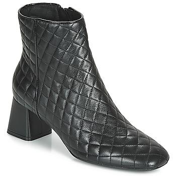 Schuhe Damen Low Boots Geox D SEYLA Schwarz