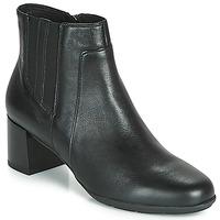 Schuhe Damen Low Boots Geox NEW ANNYA MID Schwarz