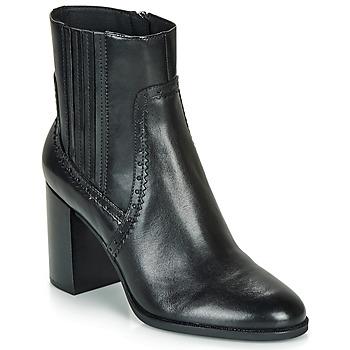Schuhe Damen Low Boots Geox D JACY HIGH Schwarz