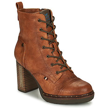 Schuhe Damen Low Boots Mustang 1336502-309 Cognac