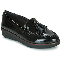 Schuhe Damen Slipper FitFlop PETRINA MOCASSIN Schwarz